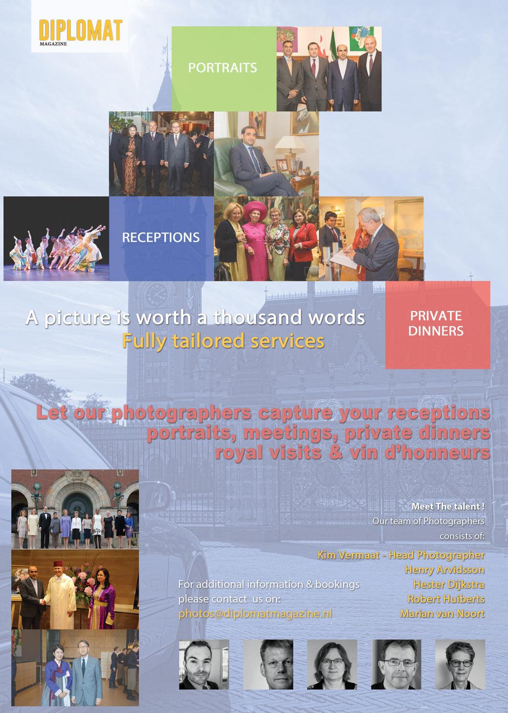 Hire a Pro photographer - Diplomat magazine : Diplomat magazine